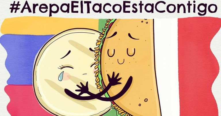 Mexicanos crean #ArepaElTacoEstáContigo en solidaridad con Venezuela y éstos se emocionan