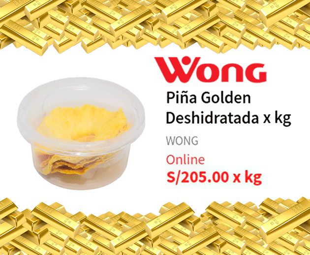 "Wong vende Piña de ""Oro"" a 205 soles el kilogramo"