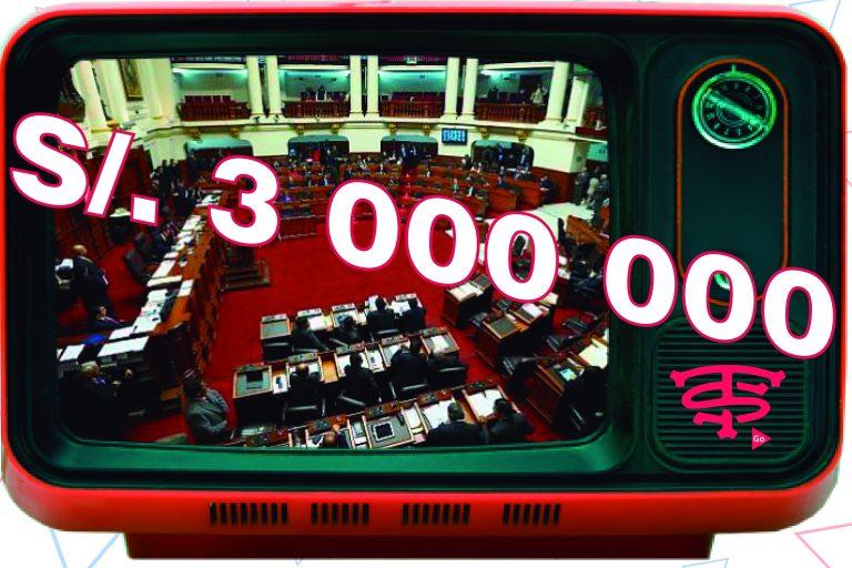 CONGRESO GASTA MAS DE 3 MILLONES EN CANAL DE TV